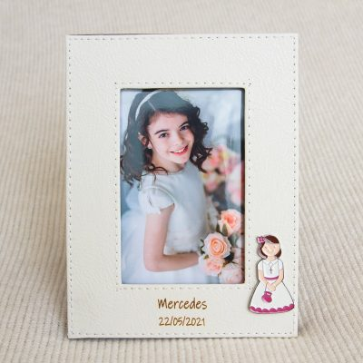 Detalles comunión portafotos personalizado