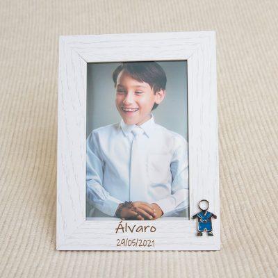 Detalles comunión personalizado portafotos