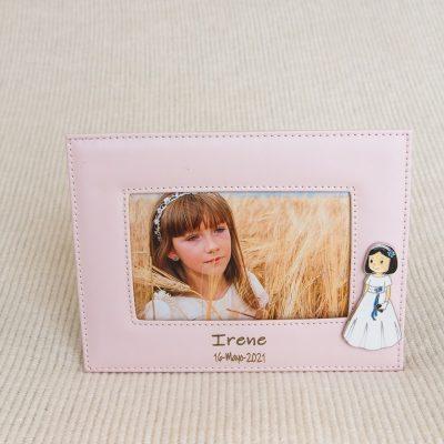 Detalles comunión portafotos personalizados